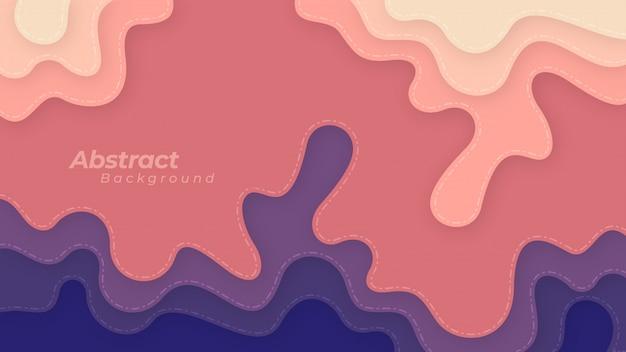 Abstrato com formas onduladas e em camadas.
