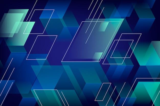 Abstrato com formas poligonais