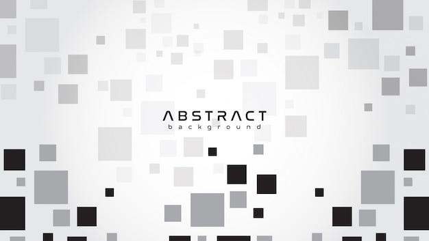 Abstrato com fundo cinza com formas quadradas
