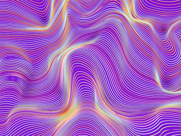 Abstrato com linhas onduladas oblíquas.