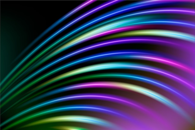 Abstrato com luzes de neon coloridas