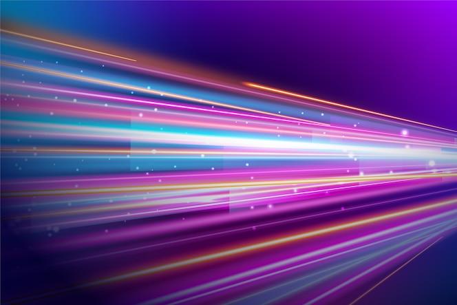 Abstrato com luzes de néon