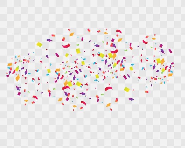 Abstrato com muitos confetes minúsculos caindo. Vetor Premium