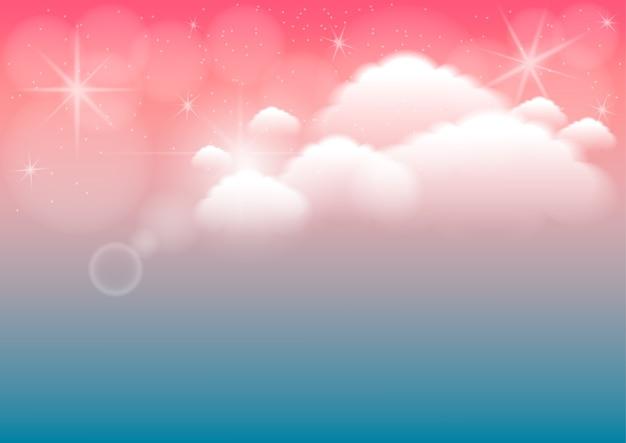 Abstrato com nuvem