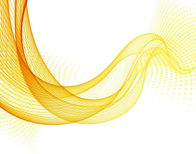 Abstrato com onda de cor lisa laranja