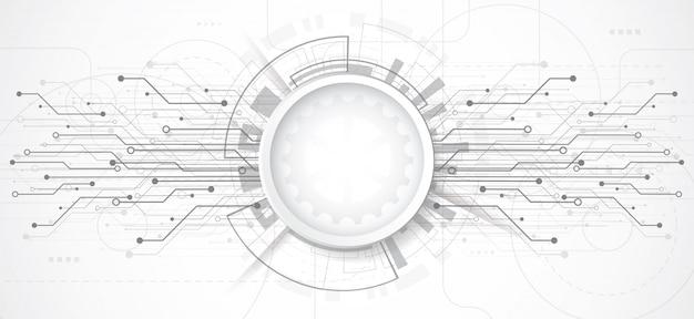 Abstrato com placa de circuito de ponto e linha de tecnologia