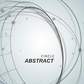 Abstrato com sobreposição de círculos e pontos