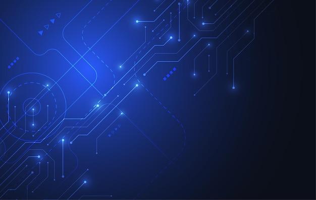 Abstrato com textura de placa de circuito de tecnologia. ilustração de placa-mãe eletrônica. conceito de comunicação e engenharia. ilustração vetorial