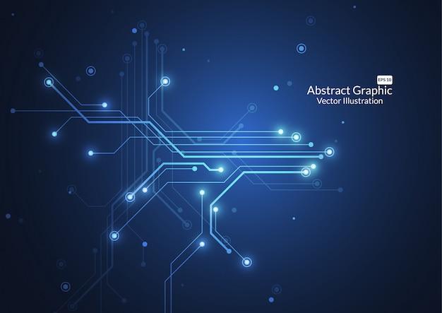 Abstrato com textura de placa de circuito de tecnologia