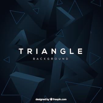 Abstrato com triângulos 3d