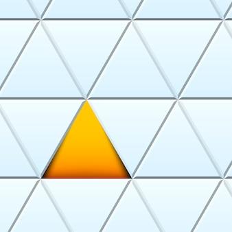 Abstrato com triângulos de papel cortado