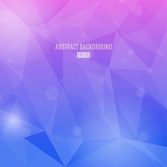Abstrato com triângulos transparentes nas cores gradientes rosa e violetas. fundo de design moderno
