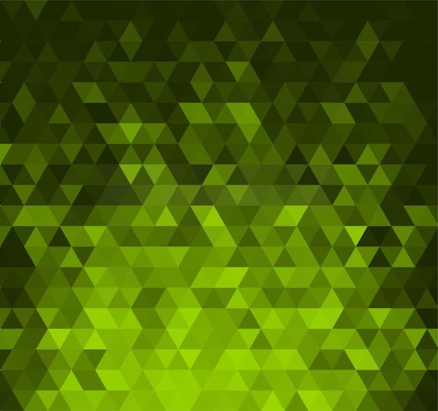 Abstrato com triângulos verdes brilhantes