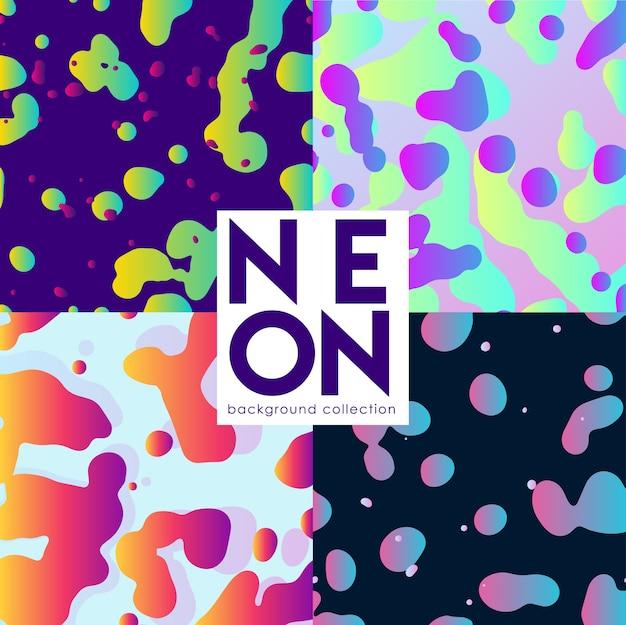 Abstrato conjunto com fluidos neoon