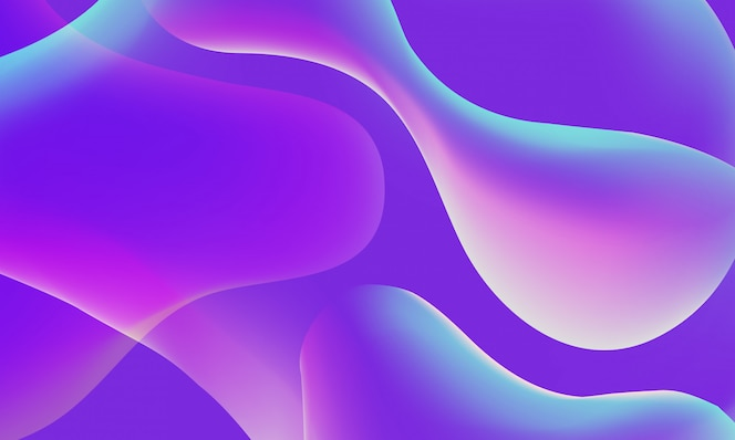 Abstrato da forma fluida.