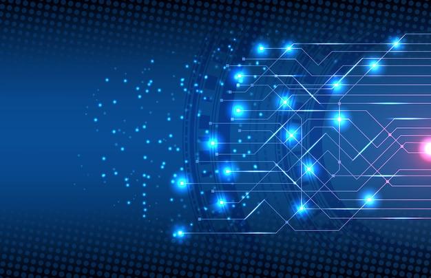 Abstrato da tecnologia de circuito de conexão eletrônica