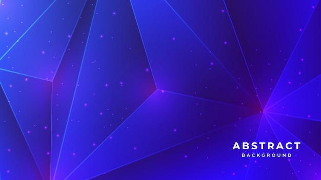Abstrato de cristal baixo polígono 3d fundo azul