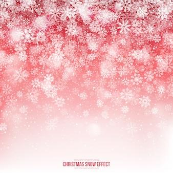 Abstrato de efeito de neve de natal
