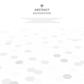Abstrato de formas cinzentas em pentágonos Vetor Premium