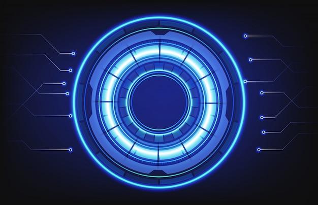 Abstrato de furo de conexão de interface inteligente de tecnologia hud