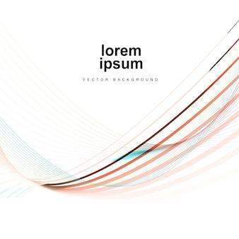 Abstrato de linhas coloridas de luxo
