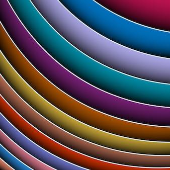 Abstrato de linhas coloridas