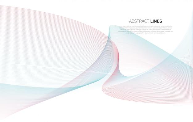 Abstrato de linhas de cor de luxo