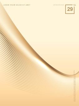 Abstrato de linhas de ouro de luxo, fundo de brochura