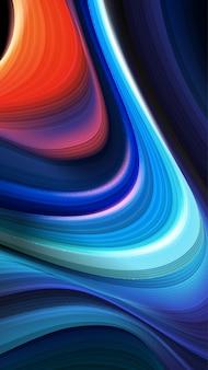 Abstrato de listras coloridas curvilíneas