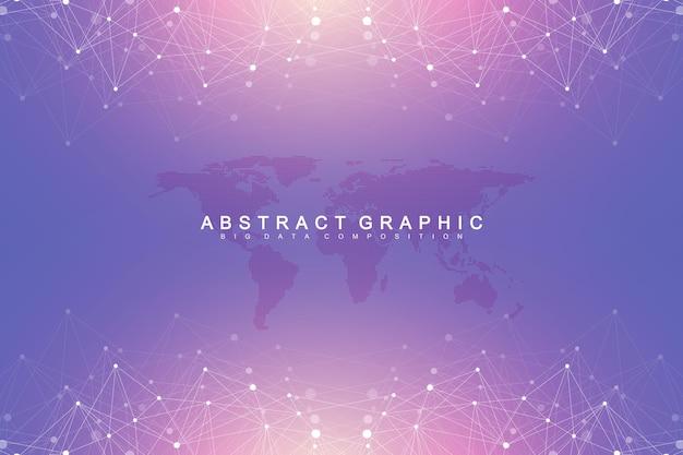 Abstrato de nanotecnologias. conceito de tecnologia cibernética.