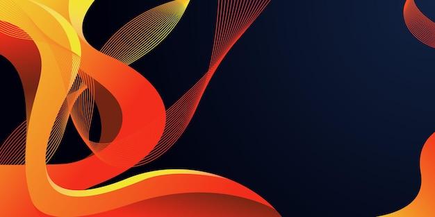 Abstrato de onda de fluido dinâmico colorido 3d. abstrato de desenho geométrico criativo. layout de desenho vetorial para apresentações de negócios, folhetos, cartazes e convites.