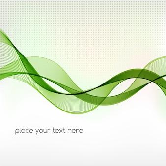 Abstrato de onda de fumaça verde