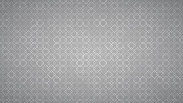 Abstrato de pequenos quadrados entrelaçados em cores cinza.