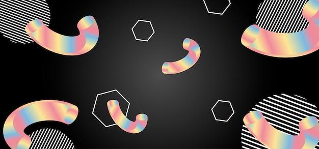 Abstrato de vetor com formas geométricas.