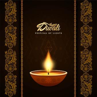 Abstrato decorativo feliz diwali religioso