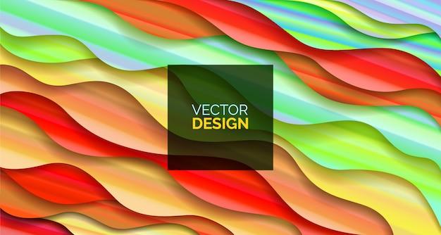 Abstrato desenho geométrico fluido com líquidos e formas.
