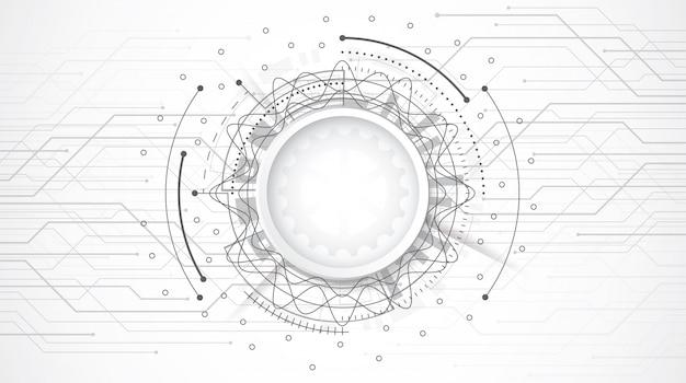 Abstrato design 3d com placa de circuito de ponto e linha de tecnologia