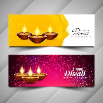Abstrato design de banners religiosos feliz diwali