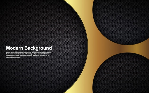 Abstrato design de luxo preto e dourado de fundo moderno
