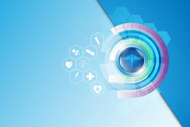 Abstrato design de modelo de farmácia médica de cuidados de saúde
