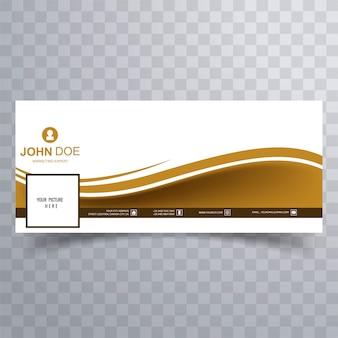 Abstrato design de modelo de onda de banner facebook