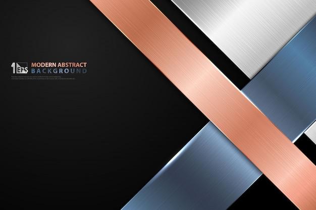 Abstrato design de titânio brilhante de cor negócios tom listra linha capa de fundo.