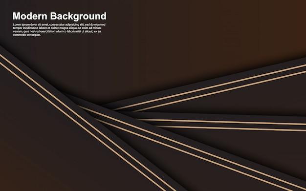 Abstrato design moderno de cor preto e marrom