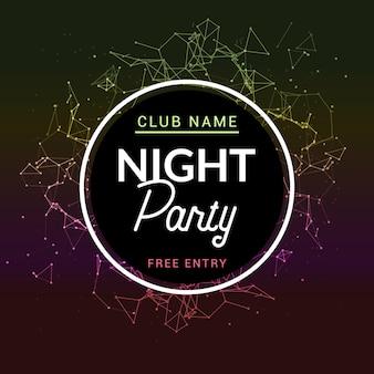 Abstrato disco dança noite festa cartaz folheto design backgorund. música de panfleto criativa mostra clube noturno de entretenimento.