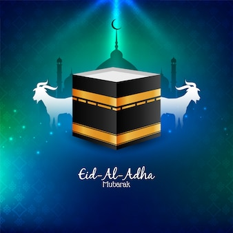 Abstrato eid al adha mubarak fundo religioso
