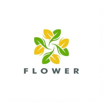 Abstrato elegante árvore folha flor logo vector design