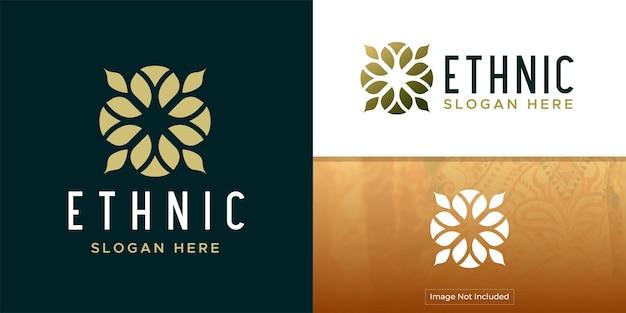 Abstrato elegante folha de árvore flor logotipo ícone vector design símbolo criativo premium universal