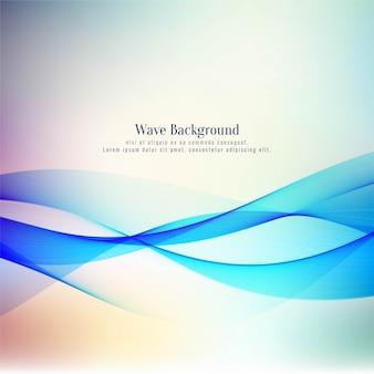 Abstrato elegante onda design vector background