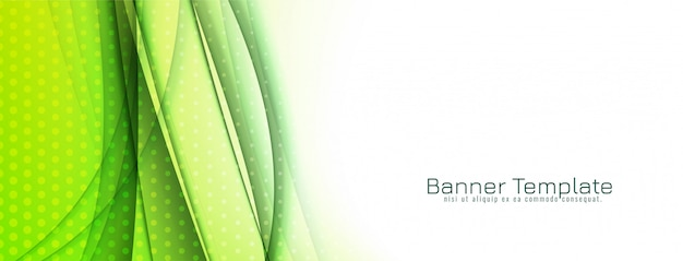 Abstrato elegante onda verde banner design