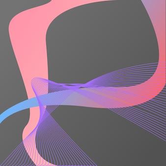 Abstrato. elementos coloridos. linhas de líquido, gradientes. holograma